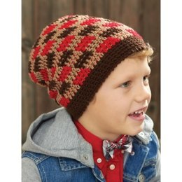 Gingham Hat in Patons Astra - Downloadable PDF