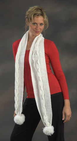 Cabled Scarf in Plymouth Yarn Holiday Lights - 2152 - Downloadable PDF