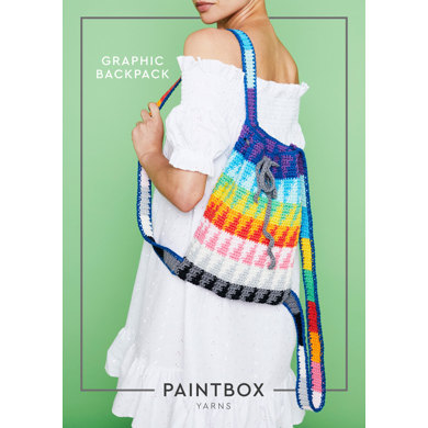 """Graphic Backpack"" : Bag Crochet Pattern in Paintbox Yarns Aran Yarn"