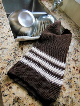Garter Stitch Striped Dish Towel