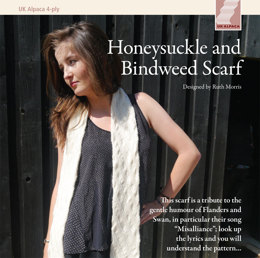 Honeysuckle & Bindweed Scarf in UK Alpaca Baby Alpaca Merino 4 ply - Downloadable PDF
