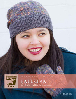 Fallkirk Hat & Mittens in Juniper Moon Farm Findley DK and Findley DK Dappled - J25-01