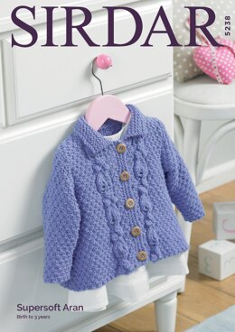 Line Jacket in Sirdar Supersoft Aran - 5238 - Downloadable PDF