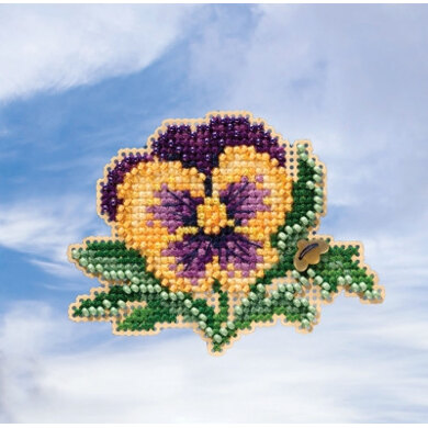 Mill Hill Spring Bouquet 2019 - Tricolor Pansy Seasonal Ornament