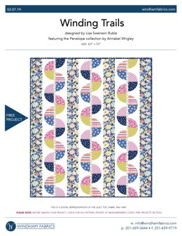 Windham Fabrics Winding Trails - Downloadable PDF