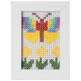 Groves & Banks Butterfly Cross Stitch Kit with Frame