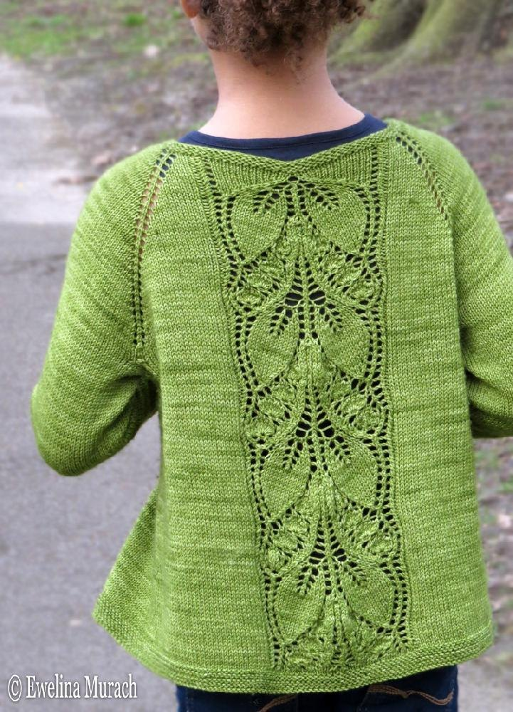 Lace Cardigan Knitting Pattern : Leaf Lace Cardigan (kids) Knitting pattern by Ewelina Murach Knitting Patte...