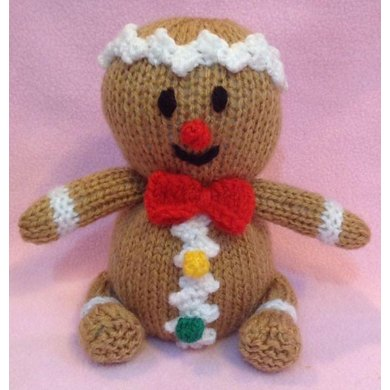 Christmas Gingerbread Man Choc Orange Cover Toy Knitting Pattern