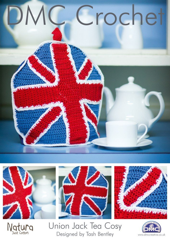 Knitting Pattern For Union Jack : Union Jack Tea Cosy in DMC Natura Just Cotton - 14896L/2