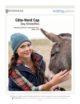 Côte-Nord Cap in Swans Island Natural Colors Collection Worsted - Downloadable PDF