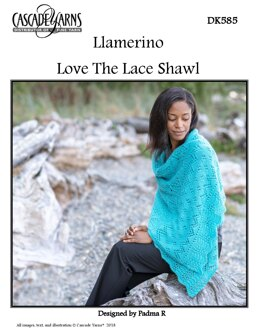 Love The Lace Shawl in Cascade Yarns Llamerino - DK585 - Downloadable PDF