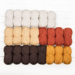 Stylecraft Whispers From The Past CAL - Brown Sugar 22 Ball Colour Pack