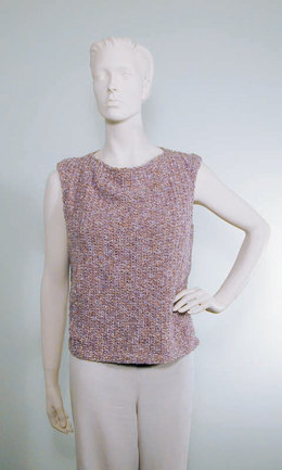 Draped Neck Shell Top in Knit One Crochet Too - 1064 - Downloadable PDF
