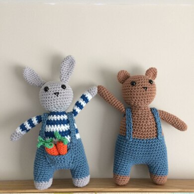 Bunny and Bear in Blue Jeans