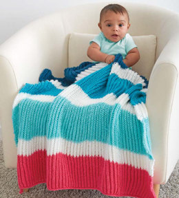Bold Stripes Baby Blanket in Caron Simply Soft and Simply Soft Brites - Downloadable PDF
