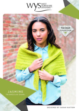 Jasmine Triangular Shawl in West Yorkshire Spinners Wensleydale Gems Hanks - WYS90999