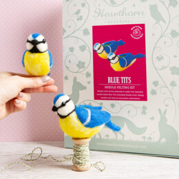 Hawthorn Handmade Blue Tits Needle Felting Kit (pair)