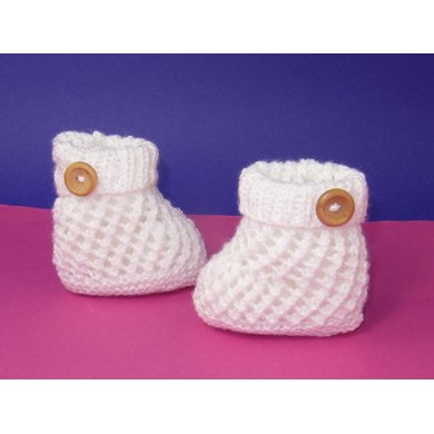 Easy Baby 1 Button Lacey Booties