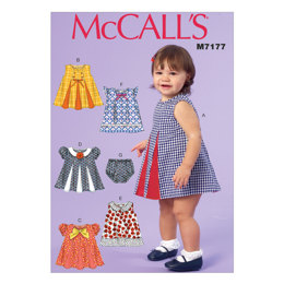 McCall's Infants' Dresses and Panties M7177 - Sewing Pattern