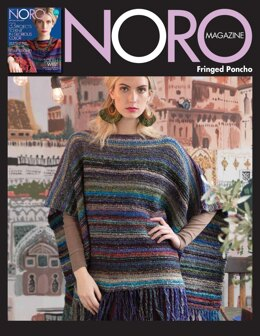 Fringed Poncho in Noro Taiyo - 14387 - Downloadable PDF