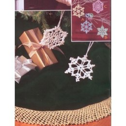 Bells, Flakes and Tree Skirt Edging in Patons Grace