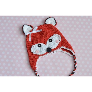 Crochet Fox Hat Crochet pattern by Amy Ramnarine a6945ad4fc0