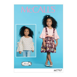 McCall's Children's/Girls' Tops and Skirt M7797 - Sewing Pattern