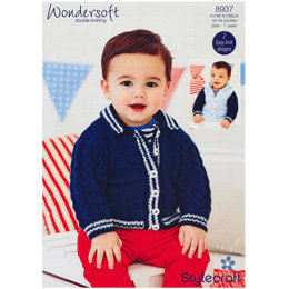 Baby Boy's Jacket with Hood in Stylecraft Wondersoft DK - 8937