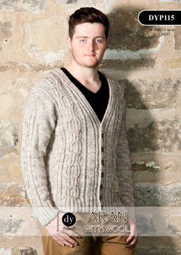 Cardigan in DY Choice Aran With Wool Tweed - DYP115