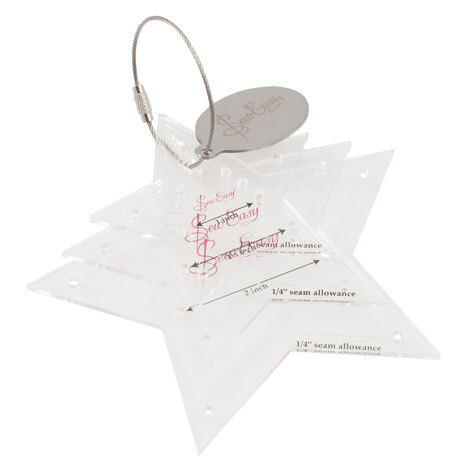 Sew Easy Mini Stars Template Set 4 sizes: 1 to 2 inches