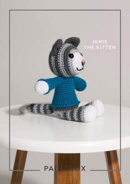 """Jamie the Kitten"" - Free Crochet Pattern For Toys in Paintbox Yarns Simply DK - 009"