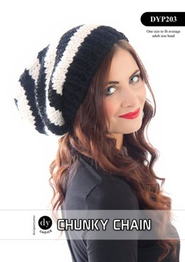 Slouchy Hat in DY Choice Chunky Chain - DYP203