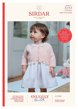 V Neck Cardigan and Doll Cardigan in Sirdar Snuggly Bouclette - 5257 - Downloadable PDF