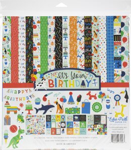 """Echo Park Paper Echo Park Collection Kit 12""""X12"""" - It's Your Birthday Boy"""
