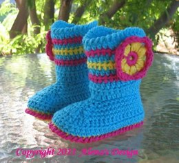 """Toddler Booties """"ALICIA"""""""