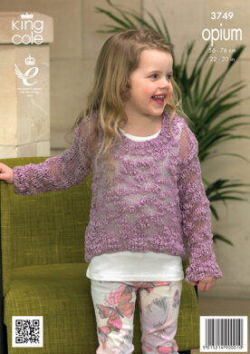 Girls' Sweaters in King Cole Opium - 3749
