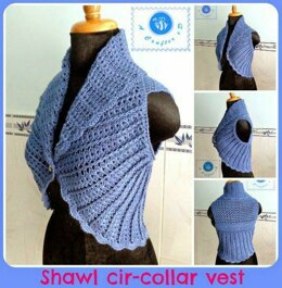 Shawl cir-collar vest