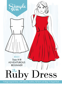 Simple Sew Patterns The Ruby Dress #003 - Sewing Pattern