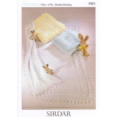 Shawls in Sirdar Snuggly 3 Ply, 4 Ply and DK - 3983