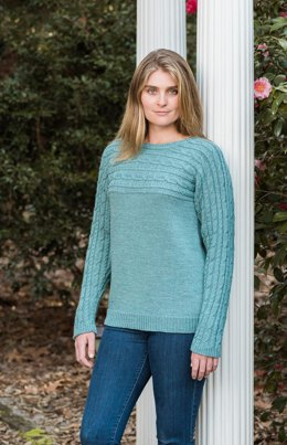 Sideways Cabled Yoke Pullover #192