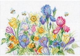 RTO Garden Flowers Cross Stitch Kit