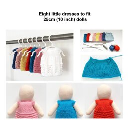 Dolls knitted dresses eight designs 19061