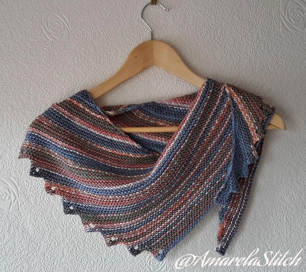 Asymmetric Saw Shawl Knitting Pattern By Amarela Stitch