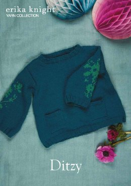 Ditzy Sweater in Erika Knight Gossypium Cotton - Downloadable PDF