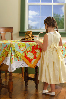 Lace Trim Tablecloths in Blue Sky Fibers Alpaca Silk
