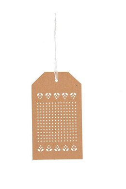 Rico Kraft Paper Embroidery Tags - Neutral (10 pcs)