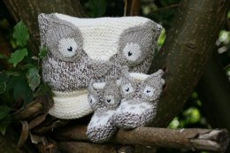 Owl Baby Hat and Booties