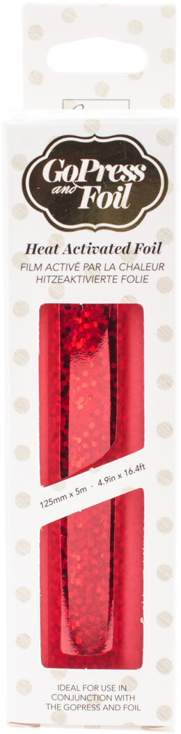 "Artdeco Creations Couture Creations Foil 5""X16.4' - Red Dotted Holgoram - Matte Finish"