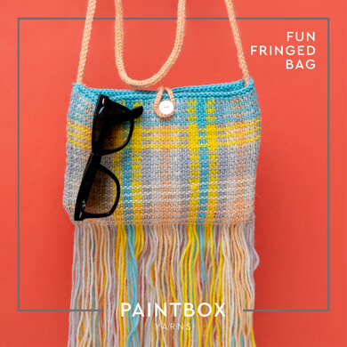 Fun Fringed Bag in Paintbox Yarns 100% Wool Worsted - Downloadable PDF