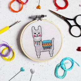 The Make Arcade Mini Cross Stitch - Lovely Llama
